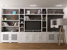 Fitted Bookcase around TV unit, Chelsea