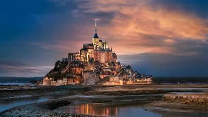 Michel Mont Saint Night Castle Wallpapers Mobile