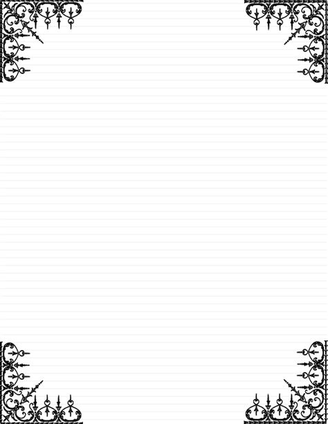 Microsoft Word Damask Page Border | Joy Studio Design