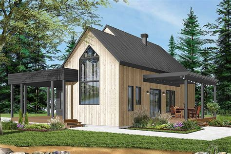 Charming Contemporary 2-bedroom Cottage House Plan