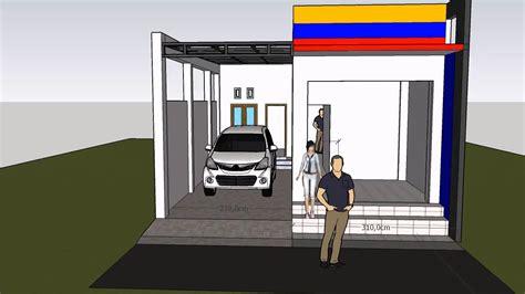 desain rumah  toko  lantai part  youtube
