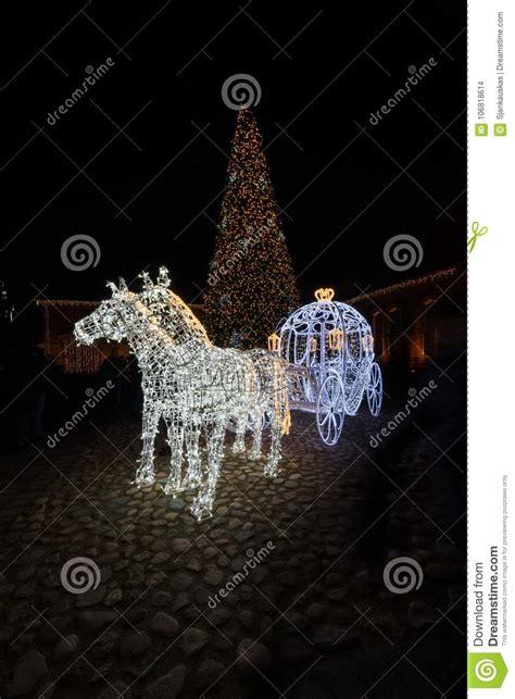 fairytale cinderella carriage night scene christmas