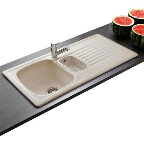 evier c 233 ramique cappuccino villeroy boch targa 1 bac 1 2 1 233 gouttoir plomberie sanitaire