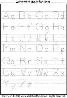 alphabet tracing worksheets images alphabet