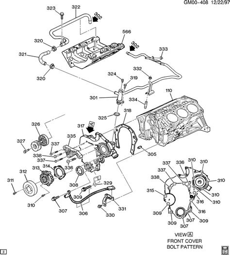 V6 Engine Diagram With Name by Engine Asm 3 4l V6 Part 3 Front Cover Cooling
