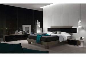Tete De Lit Design : lit design avec t te de lit ~ Teatrodelosmanantiales.com Idées de Décoration
