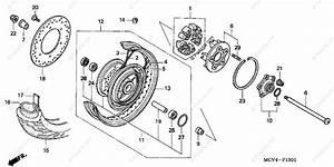 Honda Motorcycle 2003 Oem Parts Diagram For Rear Wheel