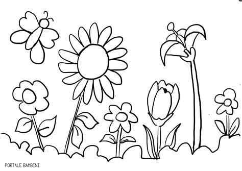 sta e colora disegni di fiori disegni di primavera da colorare portale bambini con fiori