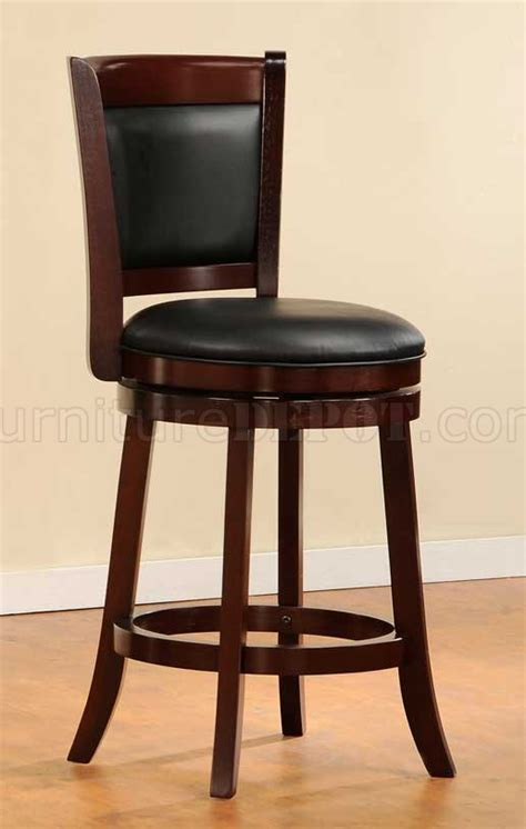 shapel cherry swivel two counter height chairs by homelegance