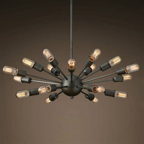 industrial looking light fixtures 18 lights industrial style pendant l satellite style