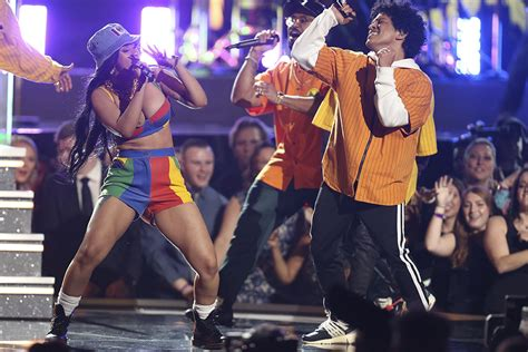 cardi b fashion performance bruno mars performs in virgil abloh x nikes at the 2018