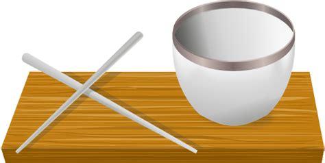 rice bowl  chopsticks clip art  clkercom vector