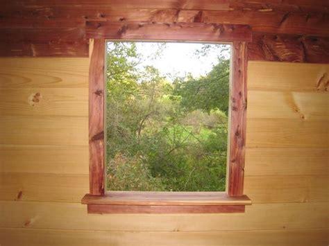 cedar window trim  shooter view   swamp