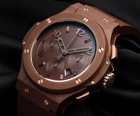 Hublot Bigbang Black Brown hublot big chocolate ceramic 44mm chrono brown