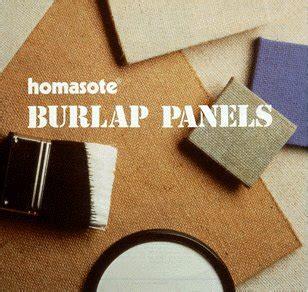 homasote burlap panels