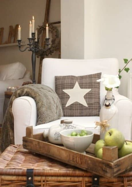 country cottage decor decorating  white brown