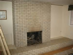Brick Fireplace Before After