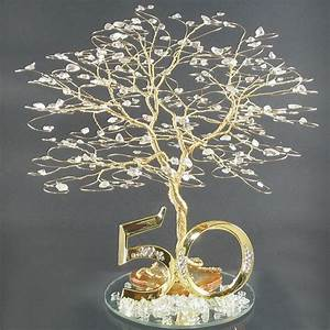 50th anniversary cake topper or centerpiece With 50th wedding anniversary colors