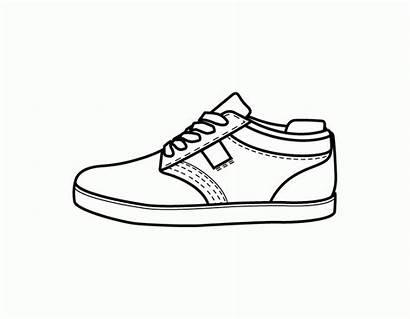 Coloring Shoes Shoe Library Clipart Clip