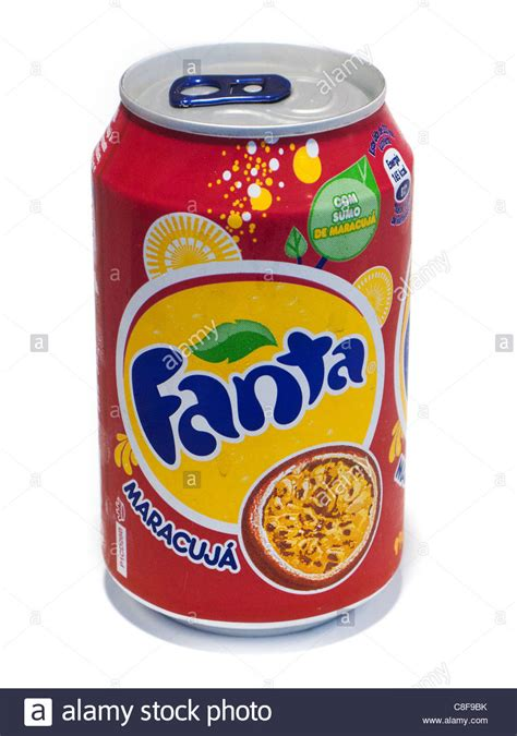 Fanta Maracuja (passion Fruit) On A White Background, From ...