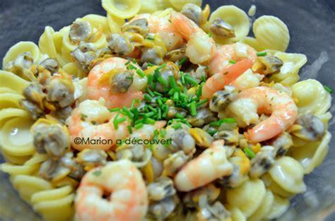 cuisiner des coques orechiettes aux coques et aux crevettes recettes de