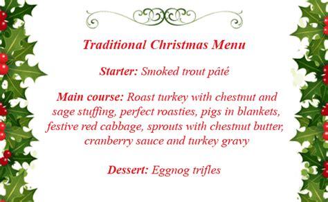 traditional christmas dinner menu christmas menu ideas goodtoknow