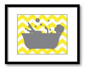 bathroom decor bathroom print grey girl yellow in a bathtub