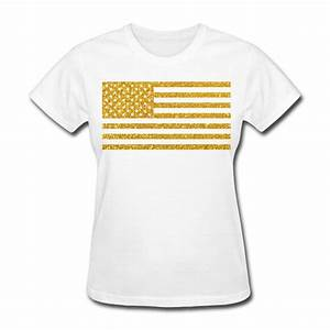us flag gold glitter t shirt spreadshirt With design t shirts with glitter letters