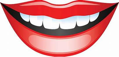Mouth Clipart Mund Smiling Sprechen Vector Lips