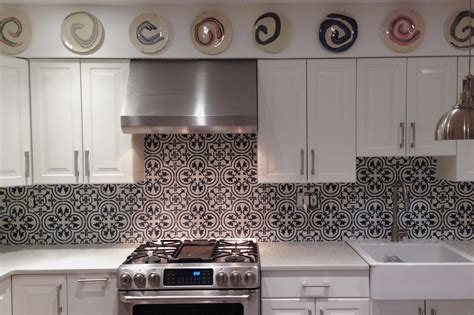 white tile backsplash kitchen colorful kitchens black and white mosaic bathroom floor 1471