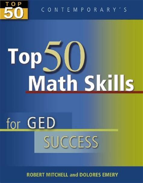 Contemporary's Top 50 Math Skills For Ged Success $1700