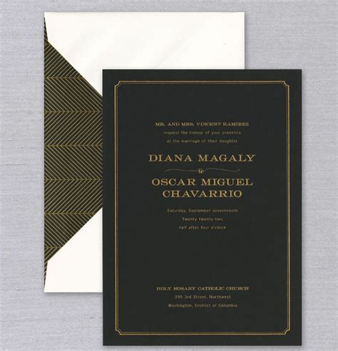 Black & Gold Engraved Wedding Invitation It will be a