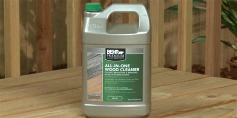 home depot behr premium  gal    wood cleaner