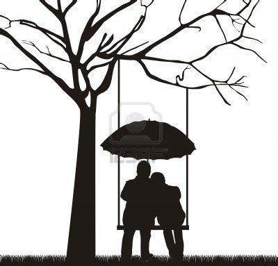 tree swing couple silhouette templets pinterest
