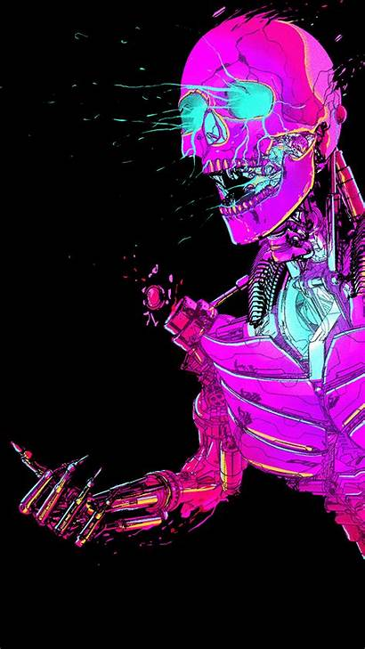 Phone Cool Wallpapers Amoled Skull Skeleton Awesome