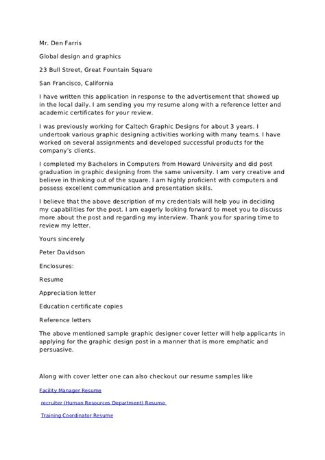 18456 are cover letters necessary 3 cover letter for graphic designer sle image collections