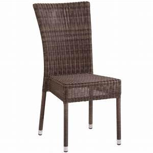 Chaise De Jardin En Resine : chaise isabelle de jardin en r sine coloris poivre ~ Farleysfitness.com Idées de Décoration