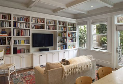 Decorating Bookshelves In Family Room by How To Decorate Shelves Built Ins Living Room Traditional