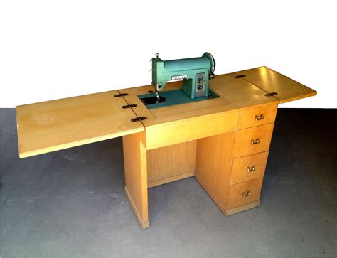 sewing machine desk vintage wood folding sewing table desk with sewing machine