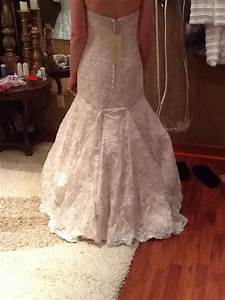 over bustle lace fit and flare wedding gown wedding gown With how to bustle a lace wedding dress