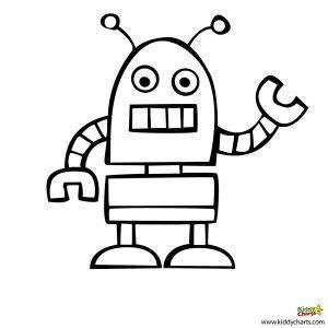 robot coloring pages beep beep en  futuro
