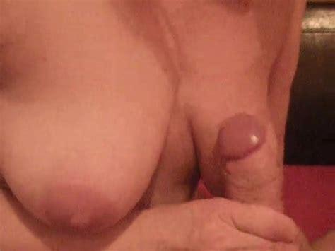 Homemade Amateur Handjob Cumshot On Boobs Tits Porn 16