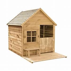 Cabane Exterieur Enfant : cabane enfant en bois peindre heidi 193x120x146 cm ~ Melissatoandfro.com Idées de Décoration