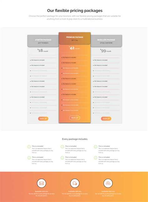Divi Pricing Pricing Table 1 Page Layout Divi Theme Layouts