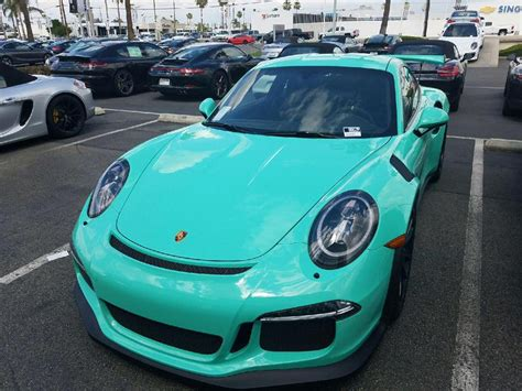 Mint Green Porsche 991 Gt3 Rs Sighted