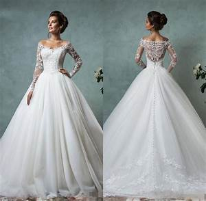 amelia sposa 2016 cheap lace wedding dresses long sleeve With cheap winter wedding dresses