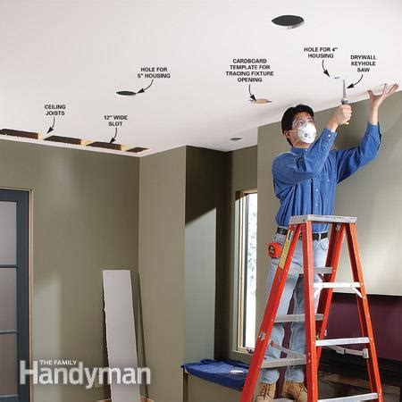 how to install can lights in an existing ceiling how to install recessed lighting for dramatic effect the