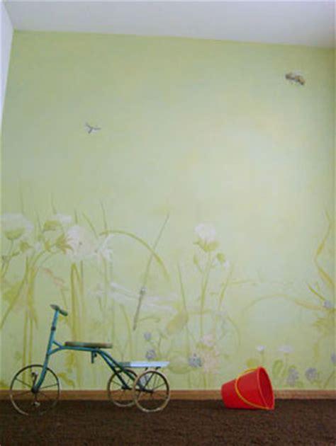 Wandgestaltung Kinderzimmer Grün Blau by Wandlungen Portfolio Gruen