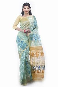 Exclusive Sea Green Dhakai Jamdani Saree From Bangladesh