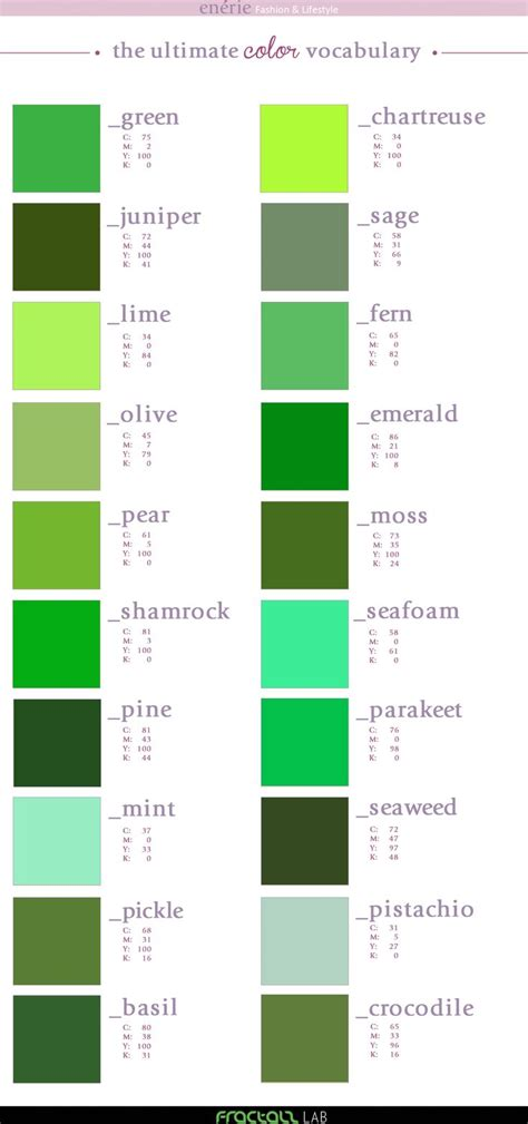 green colors names 25 best ideas about green colors on gray